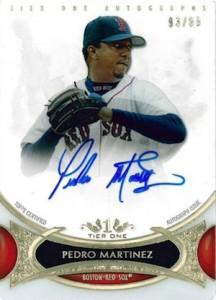 2014 Topps Tier One Baseball Autographs Pedro Martinez