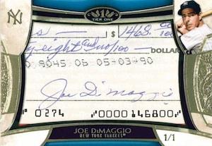 2014 Topps Tier One Baseball Cut Signatures Joe DiMaggio