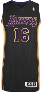 Adidas Authentic Hollywood Nights Jerseys Lakers Pau Gasol