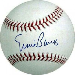 Ernie Banks Signed Baseball