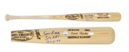 Ernie Banks Signed Bat