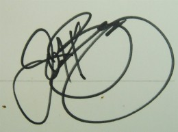 John Riggins Signature Example
