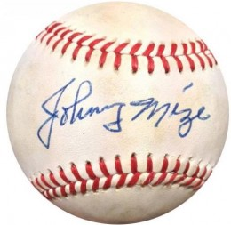 Johnny Mize Cards, Rookie Card and Autographed Memorabilia Guide 25