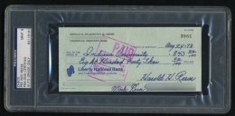 Pee Wee Reese Signed Check