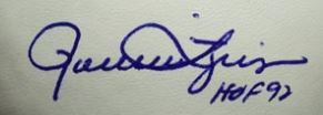 Rollie Fingers Signature Example