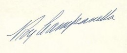 Roy Campanella Signature Example