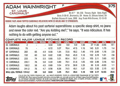 2014 Topps Series 2 Baseball Variation Short Prints Guide 90