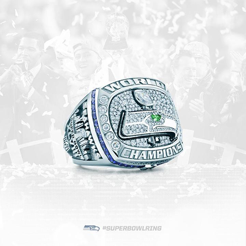 Seattle Seahawks Super Bowl XLVIII Ring - side