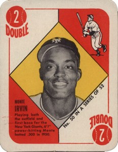 1951 Topps Red Back Monte Irvin RC