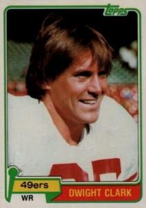 1981 Topps Dwight Clark RC
