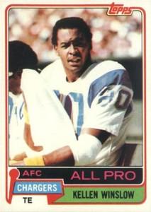 1981 Topps Kellen Winslow RC #150