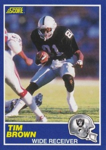 1989 Score Tim Brown RC