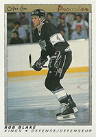 Rob Blake Cards, Rookie Cards and Autographed Memorabilia Guide