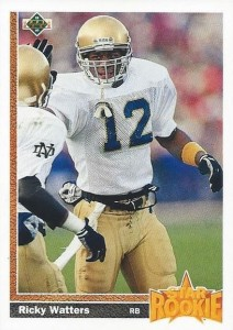 1991 Upper Deck Ricky Watters RC