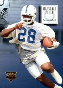 buy online e5c7f bc455 Marshall Faulk Cards and Autographed Memorabilia Guide