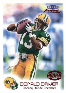 1999 Fleer Focus Donald Driver RC 213x300 Image