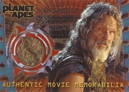 2001 Topps Planet of the Apes Movie Memorabilia