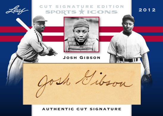 2012 Leaf Sports Icons Josh Gibson Cut Signature Card