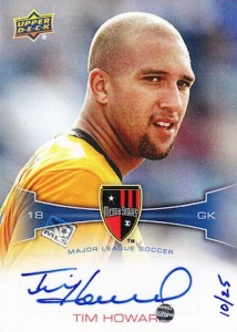 2012 Upper Deck MLS Tim Howard MLS Marks Autographs