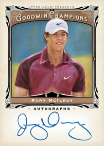 2013 Upper Deck Goodwin Champions Autographs Rory McIlroy