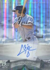2014 Bowman Platinum Baseball Prospect Autographs Chris Taylor