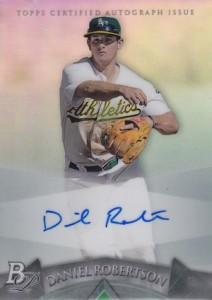2014 Bowman Platinum Baseball Prospect Autographs Daniel Robertson