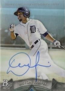 2014 Bowman Platinum Baseball Prospect Autographs Devon Travis