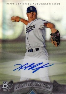 2014 Bowman Platinum Baseball Prospect Autographs Hunter Renfroe