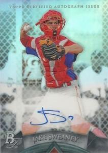 2014 Bowman Platinum Baseball Prospect Autographs Jake Sweaney