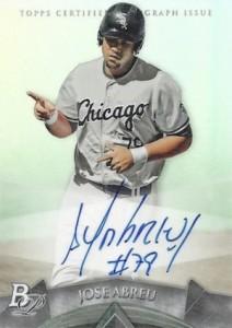 2014 Bowman Platinum Baseball Prospect Autographs Jose Abreu