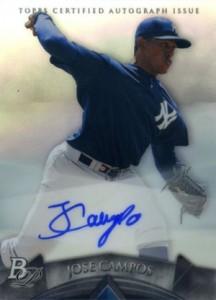 2014 Bowman Platinum Baseball Prospect Autographs Jose Campos