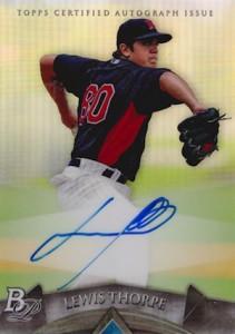2014 Bowman Platinum Baseball Prospect Autographs Lewis Thorpe