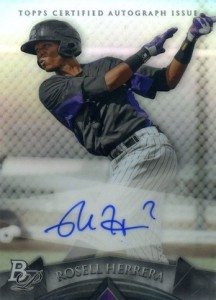 2014 Bowman Platinum Baseball Prospect Autographs Rosell Herrera