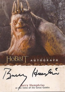 2014 Cryptozoic The Hobbit: An Unexpected Journey Autographs Guide 8