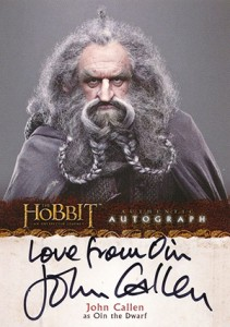 2014 Cryptozoic The Hobbit: An Unexpected Journey Autographs Guide 5