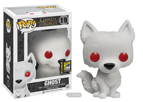 2014 Funko Pop Game of Thrones Flocked Ghost SDCC