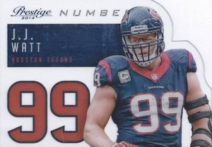 2014 Panini Prestige Football Behind the Jersey Numbers