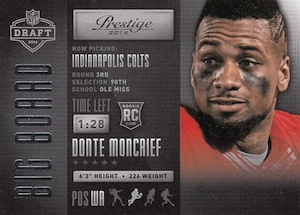 2014 Panini Prestige Football Big Draft Board