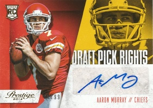 2014 Panini Prestige Football Draft Pick Rights Aaron Murray
