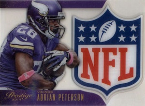 2014 Panini Prestige Football NFL Shield Adrian Peterson