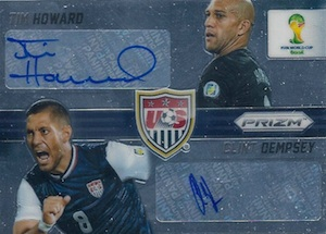 2014 Panini Prizm World Cup Dual Signatures Tim Howard Clint Dempsey