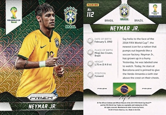 One-of-One 2014 Panini Prizm World Cup El Samba Parallels Guide 2