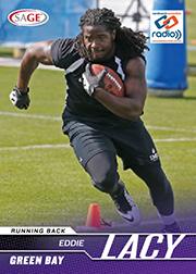 2014 Sage Cardboard Connection Radio Eddie Lacy