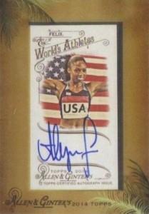 2014 Topps Allen & Ginter Non-Baseball Autographs Allyson Felix