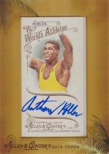 2014 Topps Allen & Ginter Non-Baseball Autographs Anthony Robles