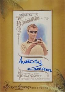 2014 Topps Allen & Ginter Non-Baseball Autographs Austin Wierschke