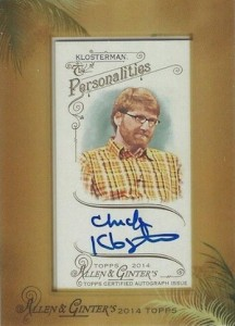 2014 Topps Allen & Ginter Non-Baseball Autographs Chuck Klosterman