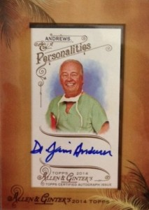 2014 Topps Allen & Ginter Non-Baseball Autographs Guide 22