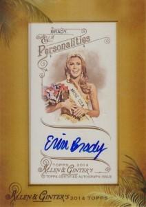 2014 Topps Allen & Ginter Non-Baseball Autographs Erin Brady
