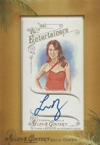 2014 Topps Allen & Ginter Non-Baseball Autographs Felicia Day